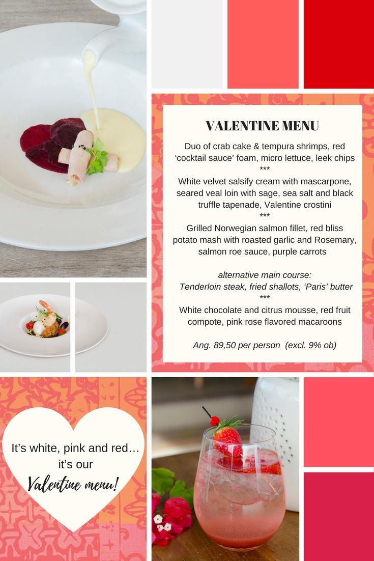 Valentine menu 2017 Fort Nassau