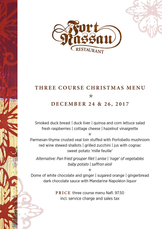 Three Course Christmas Menu